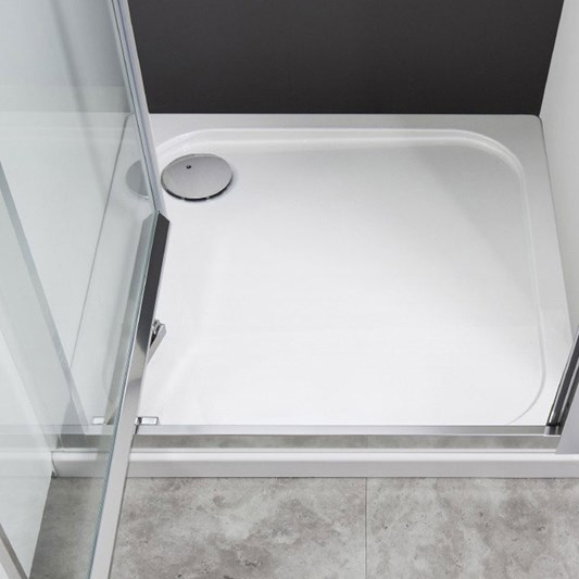 Crosswater 45mm Square Stone Resin Shower Tray