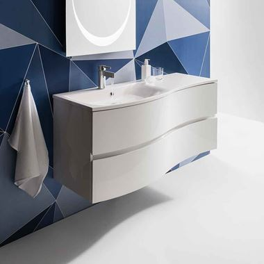 Crosswater Svelte 120 Wall Hung Vanity Unit with Basin