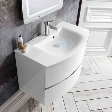 Crosswater Svelte 80 Wall Hung Vanity Unit with Basin