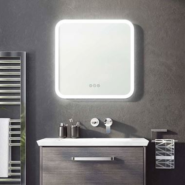 Crosswater Svelte Dimmable Illuminated Mirror with Demister & Colour Change LED's - 500, 600 & 1200mm
