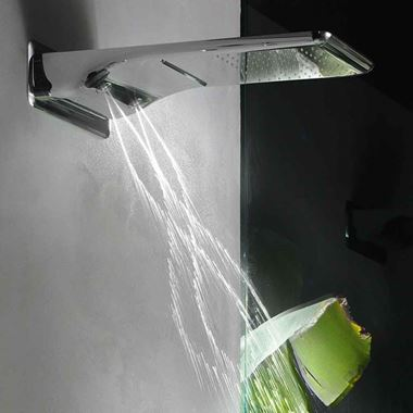 Crosswater Svelte Multifunctional Shower Head with Spinning Jets