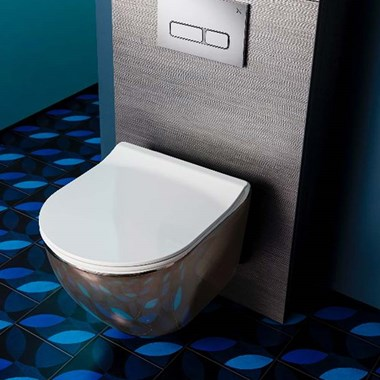 Crosswater Svelte Platinum Back to Wall Toilet & Soft Close Seat - 520mm Projection