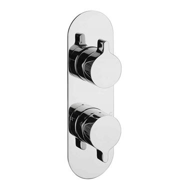 Crosswater Svelte Concealed Thermostatic Shower Valve with 3 Way Diverter