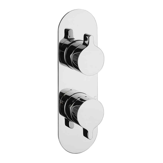 Crosswater Svelte Concealed Thermostatic Shower Valve with 2 Way Diverter