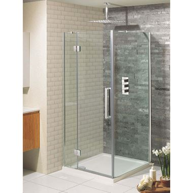 Crosswater Ten Hinged Shower Door with Inline Panel & Optional Side Panel