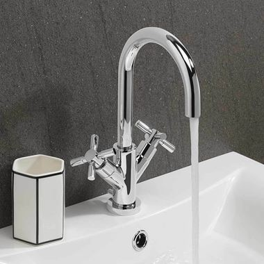 Crosswater Totti II Basin Mixer Tap & Pop-Up Waste