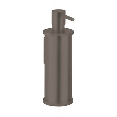 Crosswater Union Wall Mounted Soap Dispenser - Brushed Black Chrome