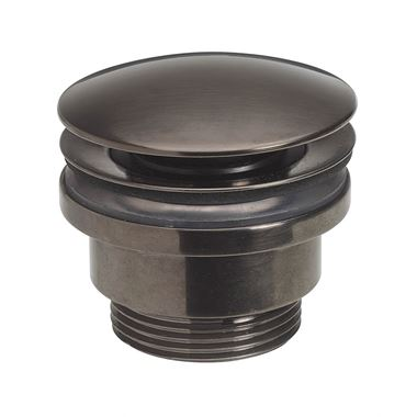 Crosswater Union Universal Basin Click Waste - Brushed Black Chrome