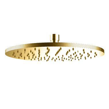 Crosswater Union 250mm Fixed Shower Head - Brushed Brass