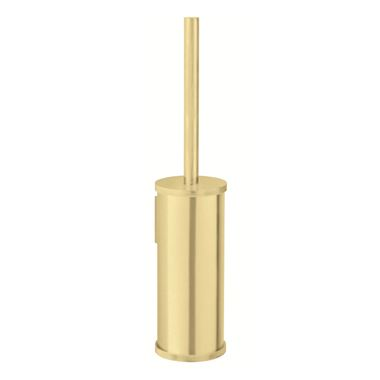 Crosswater Union Wall Mounted Toilet Brush & Holder - Brushed Brass