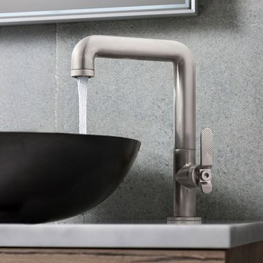 Crosswater Union Tall Basin Mixer Tap - Brushed Nickel