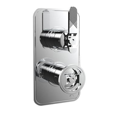 Crosswater Union 1 Outlet Concealed Thermostatic Shower Valve with Lever & Wheel - Chrome