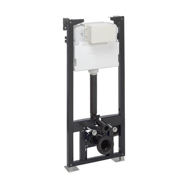Crosswater Wall Hung 1140mm Height Support Frame with Dual Flush Cistern