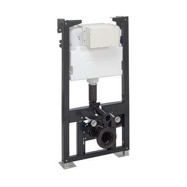 Crosswater Wall Hung 980mm Height Support Frame with Dual Flush Cistern