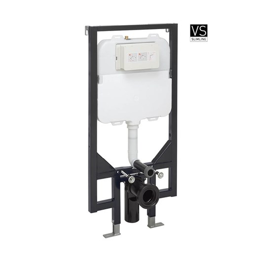 Crosswater Wall Hung Ultra Slim 1140mm Height Support Frame with Dual Flush Cistern