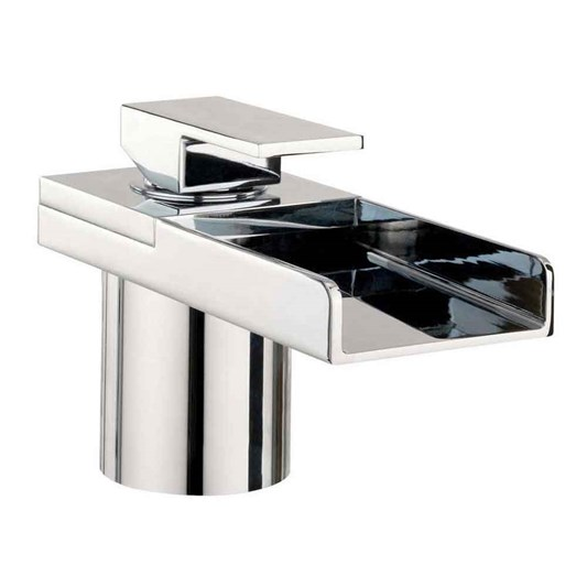 Crosswater Water Square Lights Waterfall Bath Filler with Lights