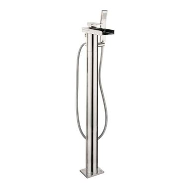 Crosswater Water Square Floorstanding Waterfall Bath and Shower Mixer with Kit