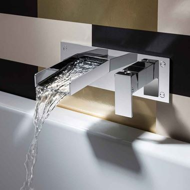 Crosswater Water Square Wall Mounted Waterfall Basin Mixer Tap