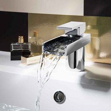 Crosswater Water Square Waterfall Basin Mixer Tap