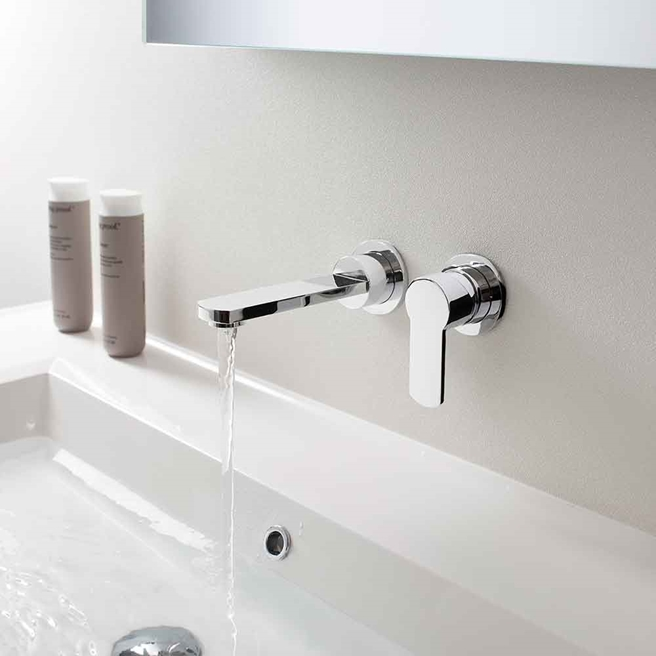 Crosswater Wisp Wall Mounted Basin Mixer Tap