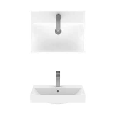 Crosswater Zion Wall Mounted or Countertop Basin - 500, 600 & 700mm
