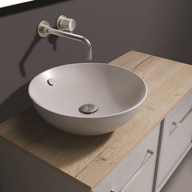 Crosswater Castellon Plus+Ton Round Storm Grey Countertop Basin - 430mm
