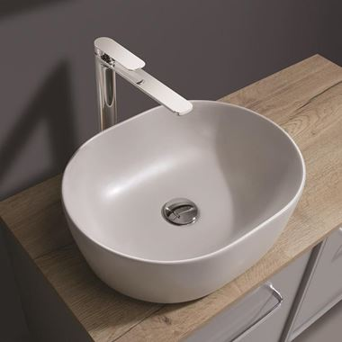 Crosswater Pearl Plus+Ton Storm Grey Countertop Basin - 450mm