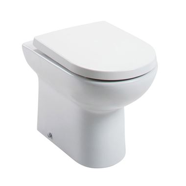 Vellamo Modern D-Shaped Back to Wall Toilet with Soft Close Seat