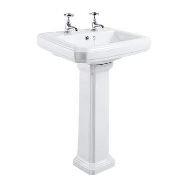 Butler & Rose Darcy 2 Tap Hole Basin & Full Pedestal