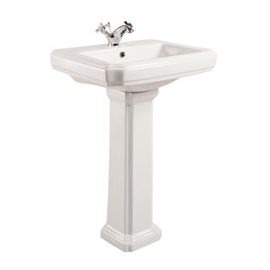 Butler & Rose Darcy 570mm Basin & Full Pedestal - 1 or 2 Tap Holes
