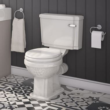 Butler & Rose Darcy Traditional Close Coupled Toilet (Excluding Seat) - 700mm Projection