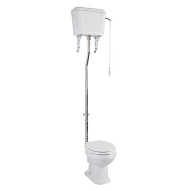 Butler & Rose Darcy High Level Toilet, Cistern & Flush Pipe Kit - 480mm Projection