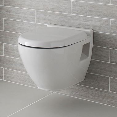Dominica Wall Hung Toilet & Soft Close Seat - 510mm Projection