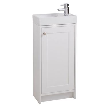 Dorothy Compact 390mm Traditional Floorstanding Vanity Unit & Basin - Ivory