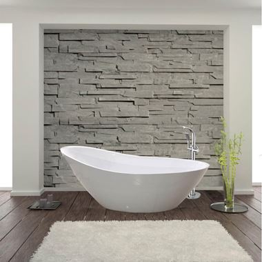 Andreia Acrylic White Freestanding Bath - 1500 x 750mm