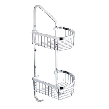 Drench Double Shower Corner Basket with Hooks