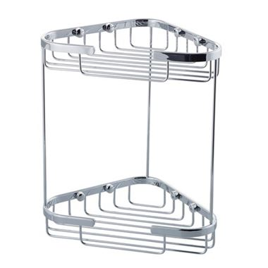 Drench Double Triangular Corner Shower Basket
