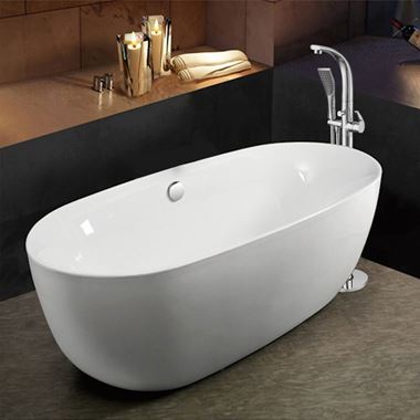 Ellie Acrylic White Freestanding Bath - 1700 x 800mm