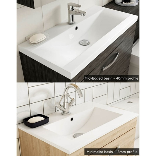 Emily 1000mm Combination Bathroom Toilet Sink Unit Natural Oak Drench