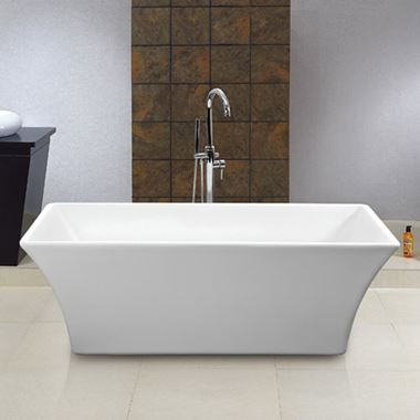 George Acrylic White Freestanding Bath - 1700 x 750mm