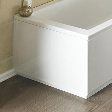 Drench High Gloss White Wooden Bath End Panel & Plinth - 700mm