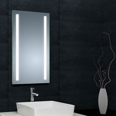 Drench LED Mirror With Shaver Socket And Mirror Demister - 425 x 800mm
