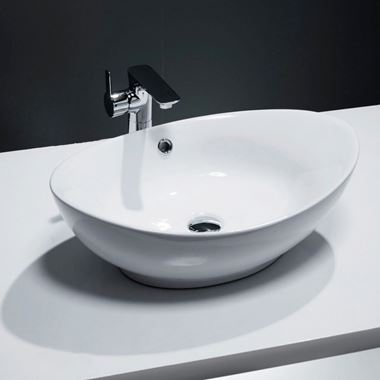 Lexie Oval Countertop Basin 587mm - No Tap Holes