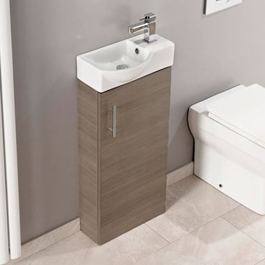 Maisie 400mm Cloakroom Vanity Unit with Oversized Basin - Oak