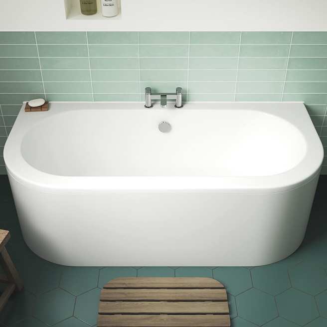 Drench Marina Back to Wall Bath & Panel - 1700 x 750mm