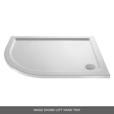 Drench MineralStone 40mm Low Profile Quadrant Shower Tray - 1000 x 800 - Left Hand