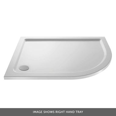 Drench MineralStone 40mm Low Profile Quadrant & Offset Quadrant Shower Tray - 1200 x 800 - Right Hand