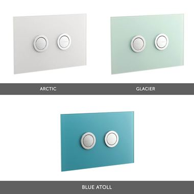 Drench Premium Lustrolite Glass-Effect Flush Plates - Arctic