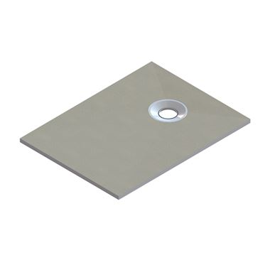 Drench Rectangular Shower Tray Former with End Waste & Installation Kit