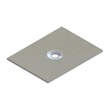 Drench Rectangular Shower Tray Former with Centre Waste & Installation Kit